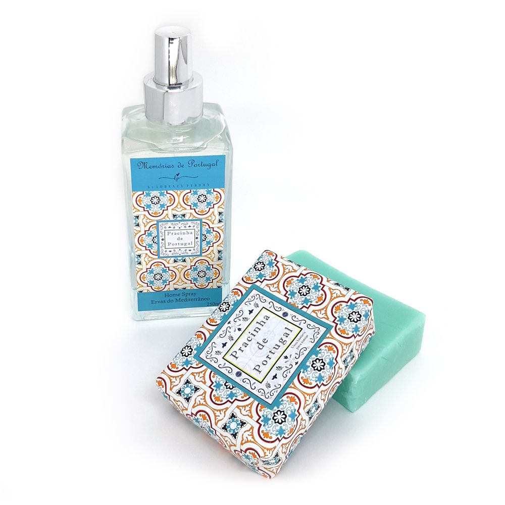 Home Spray + Sabonete Barra Ervas do Mediterrâneo