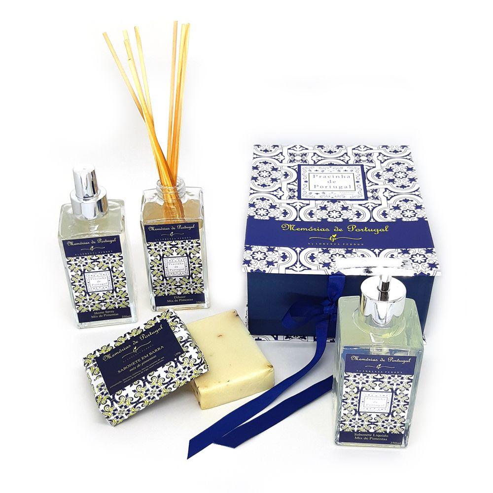 Caixa Presente + Difusor + Home Spray + Sabonete Líquido + Sabonete Barra Mix de Pimentas