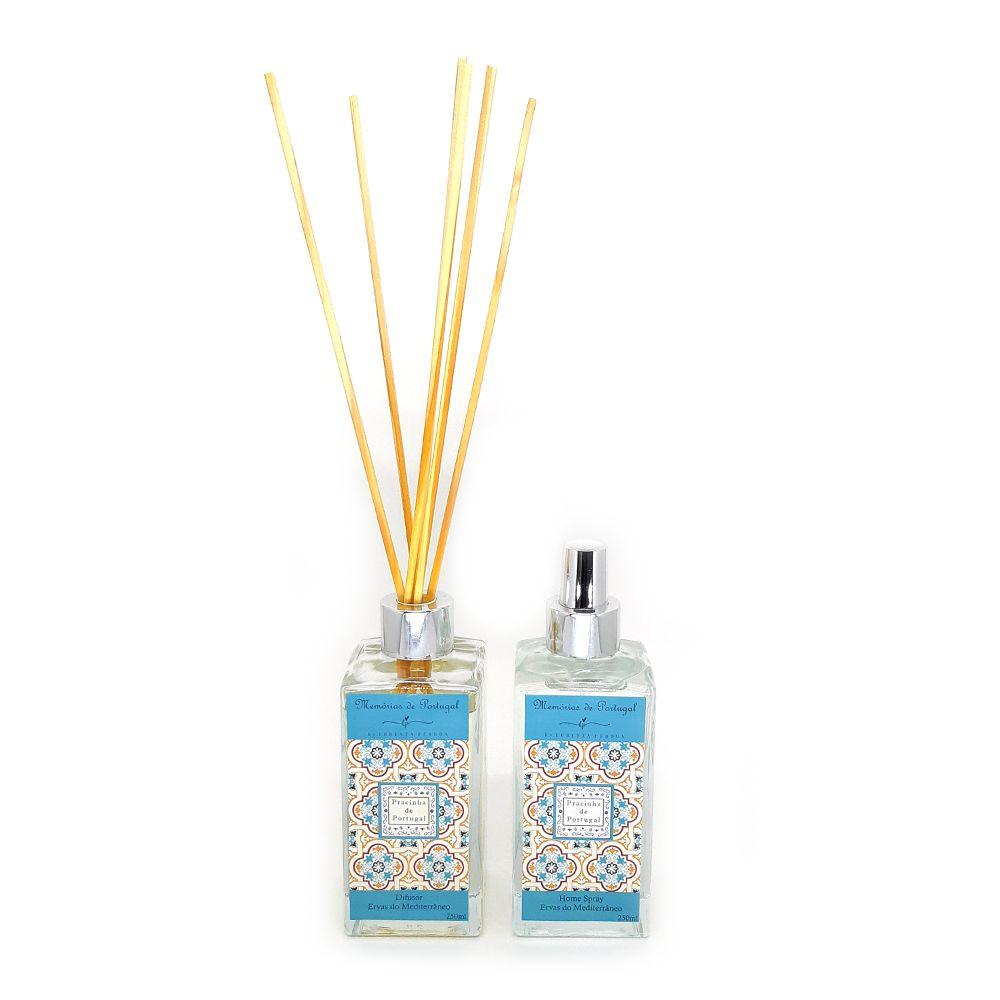 Difusor + Home Spray Ervas do Mediterrâneo