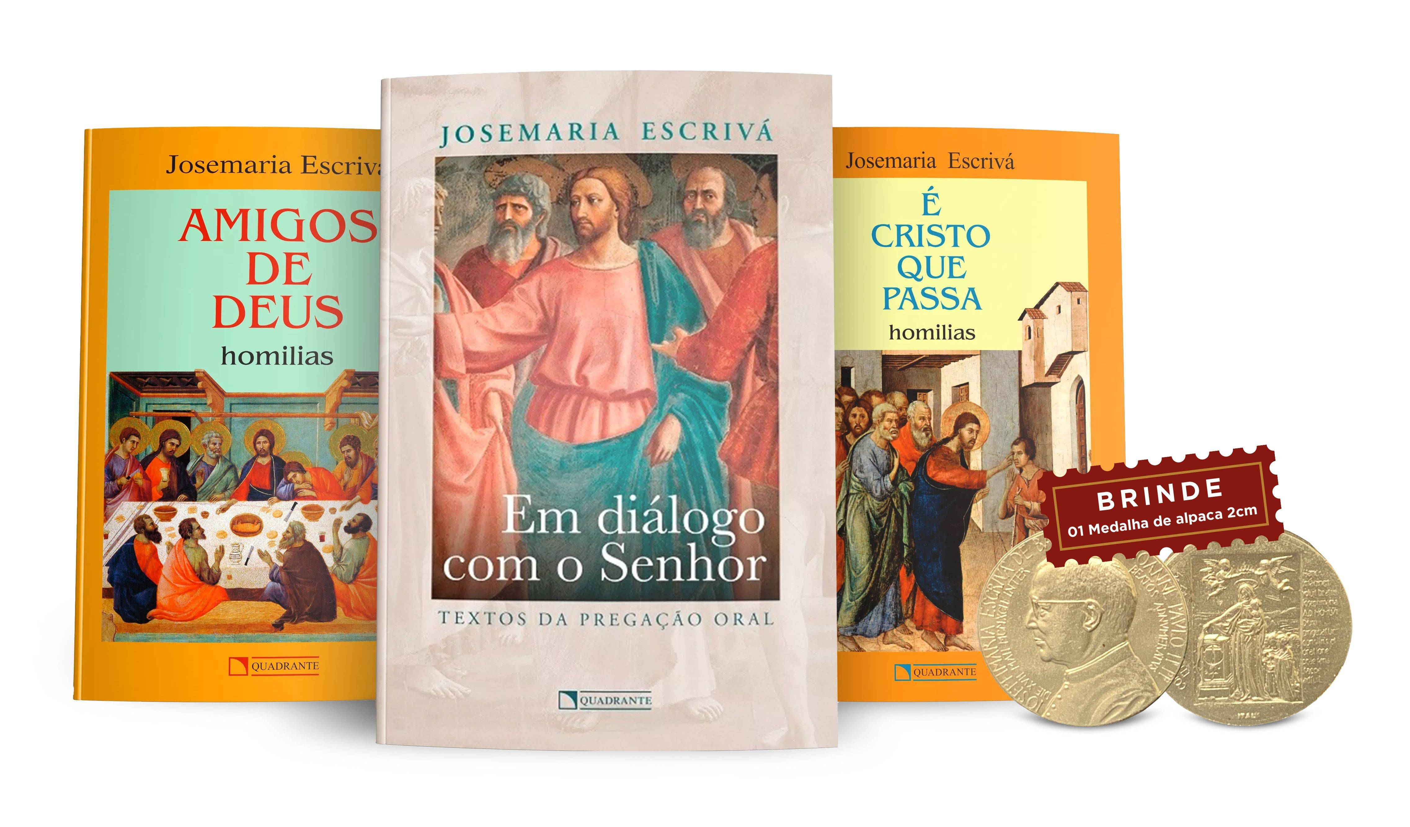 Coleção São Josemaria Escrivá: Pregações + medalha