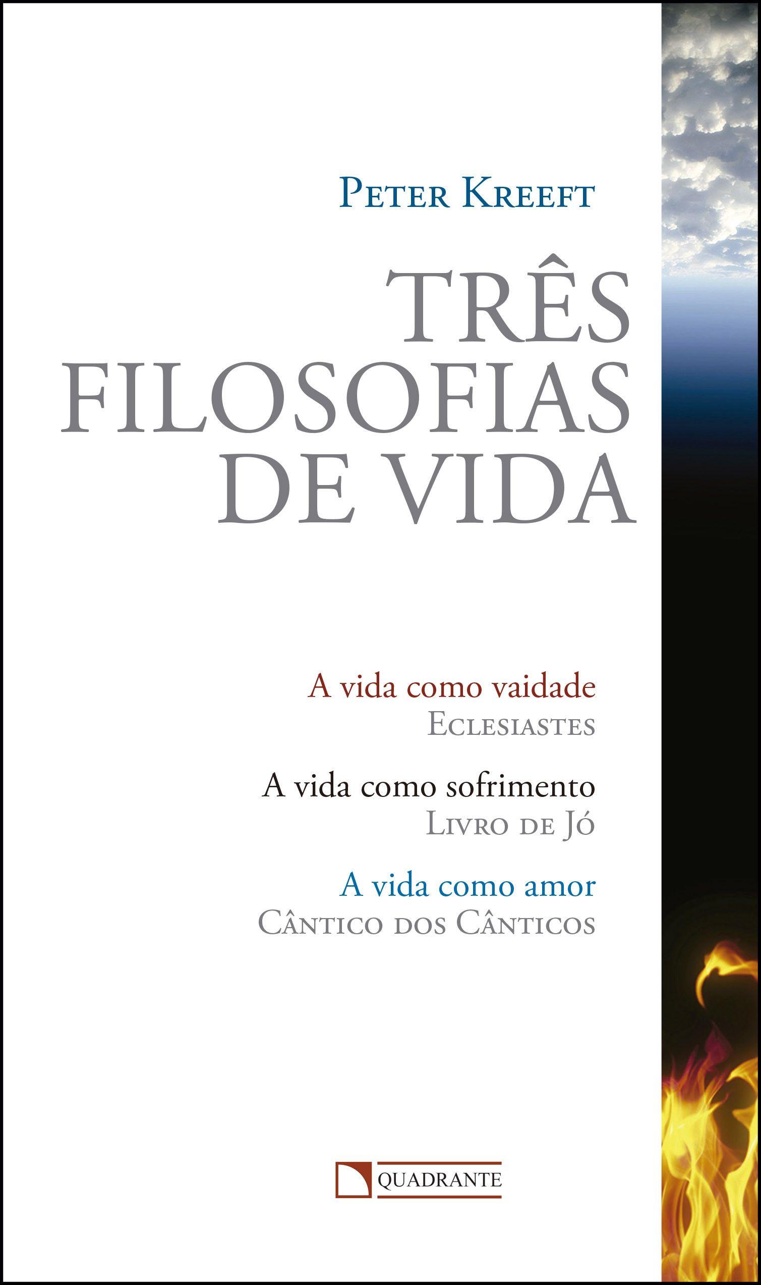Livro Três filosofias de vida