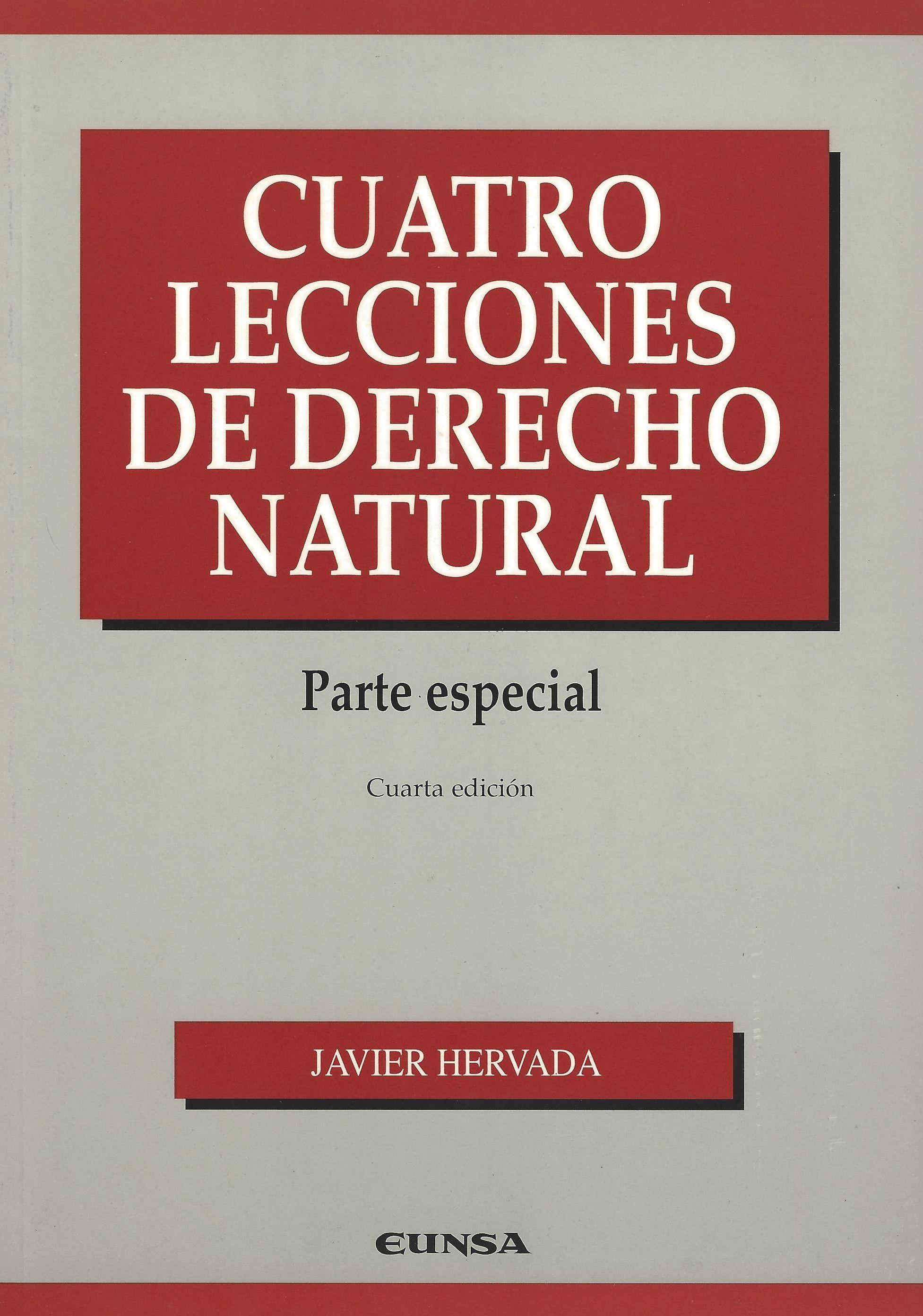 Cuatro Lecciones de Derecho Natural