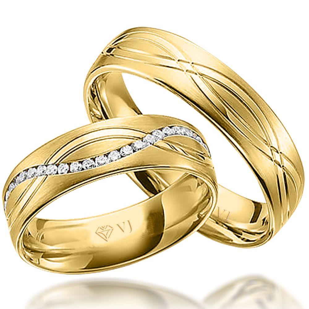 imagem do produto Alianças de Ouro com Símbolo do Infinito Cód. 853