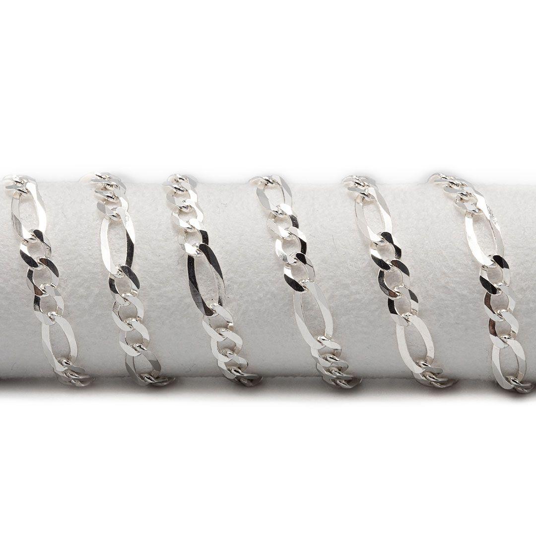 imagem do produto Corrente Groumett Fígaro em Prata de Lei