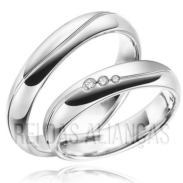 imagem do produto Aliança de Prata Namoro Compromisso 8702
