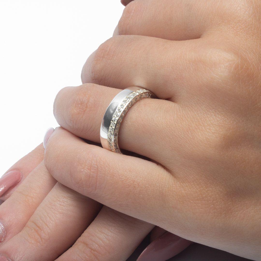 imagem do produto Aliança em Prata Exclusiva Enchant Cód. 8644