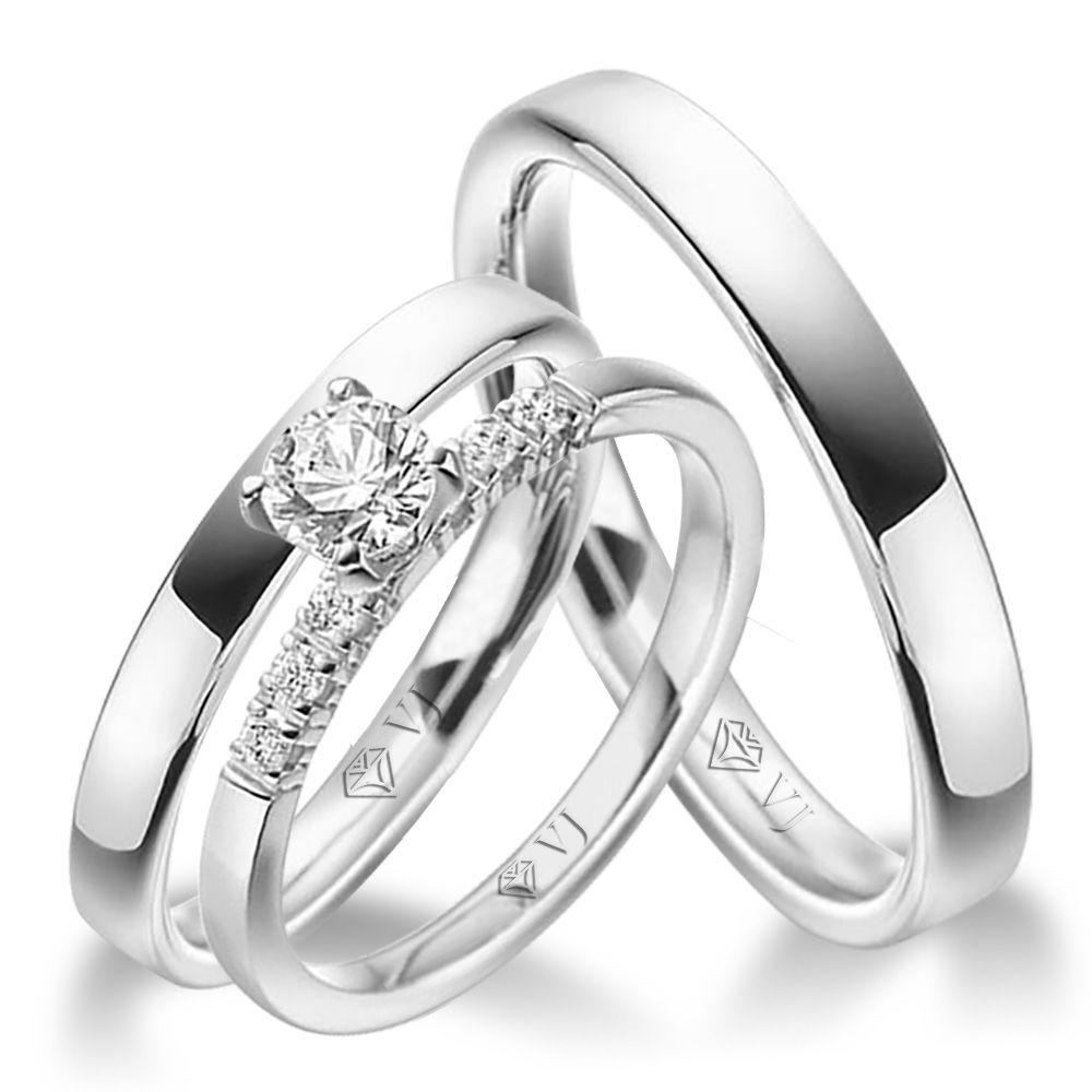 imagem do produto Kit Alianças de Compromisso Rings Cód. 8737