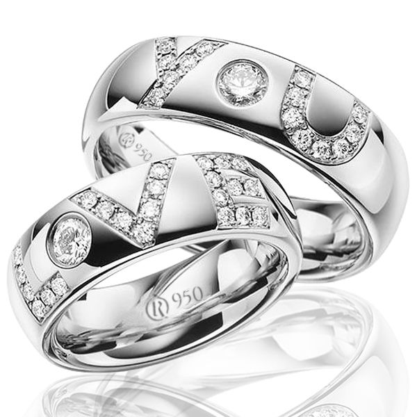 imagem do produto Alianças de prata namoro e compromisso Love You Cód. 8683