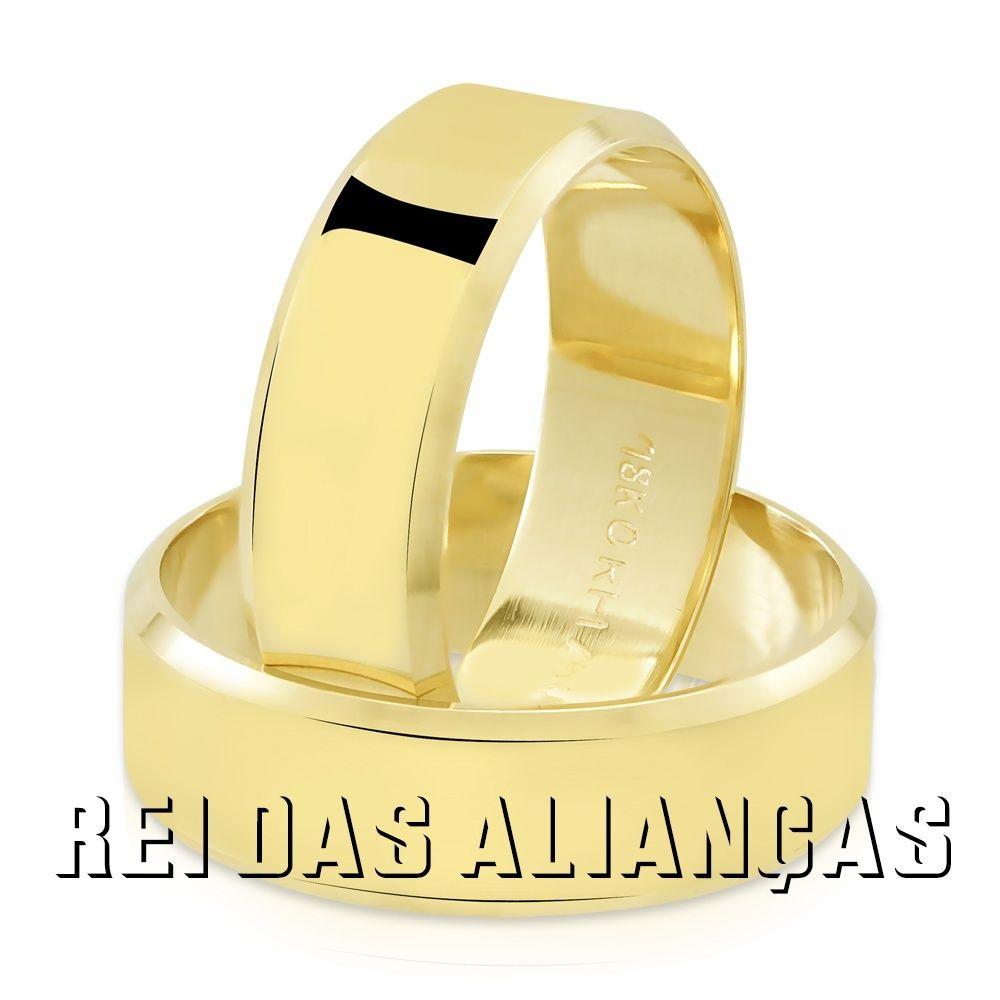 imagem do produto Alianças Chapa Reta Cantos Chanfrados Cód. 119