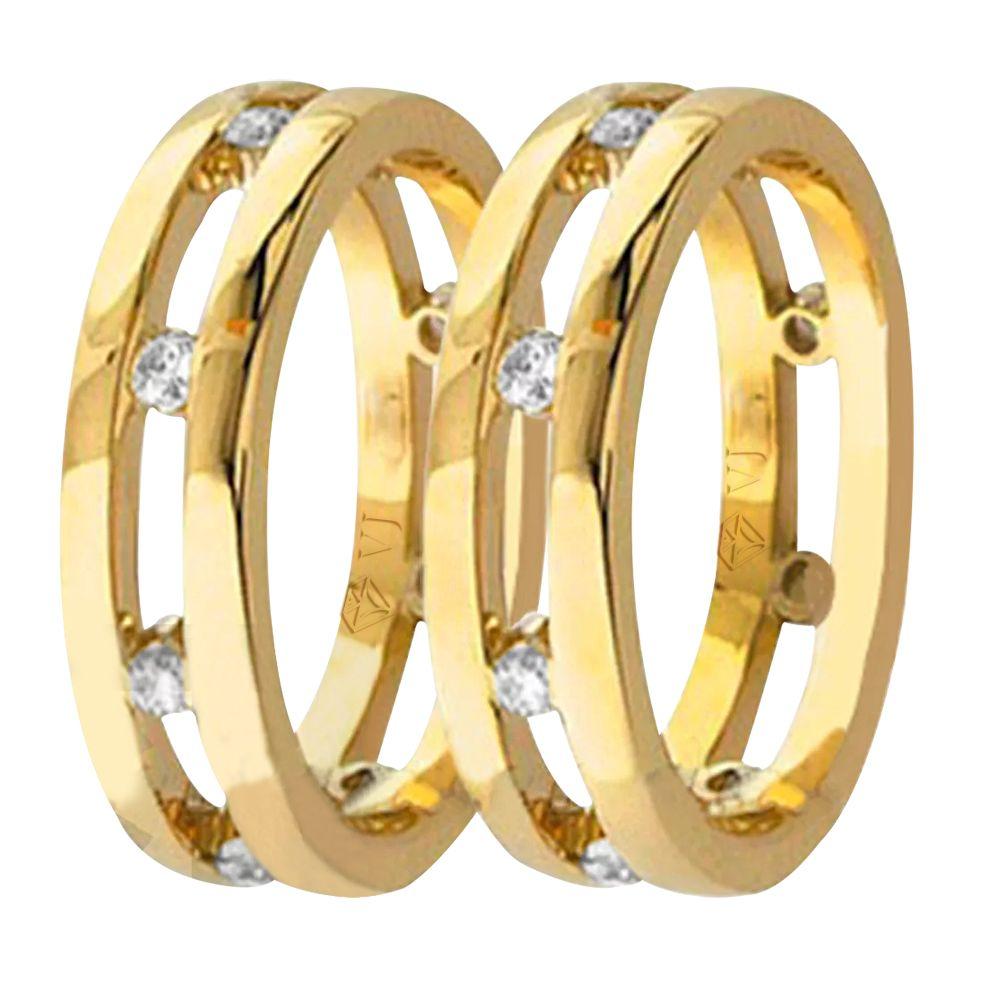 imagem do produto Alianças Design Super Diferentes em Ouro Cód. 428