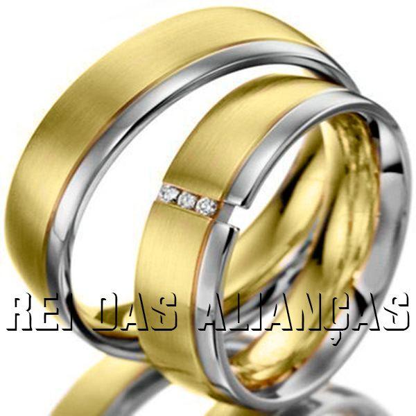 imagem do produto Alianças Ideal para Casamento ou Noivado top luxo Cód. 090