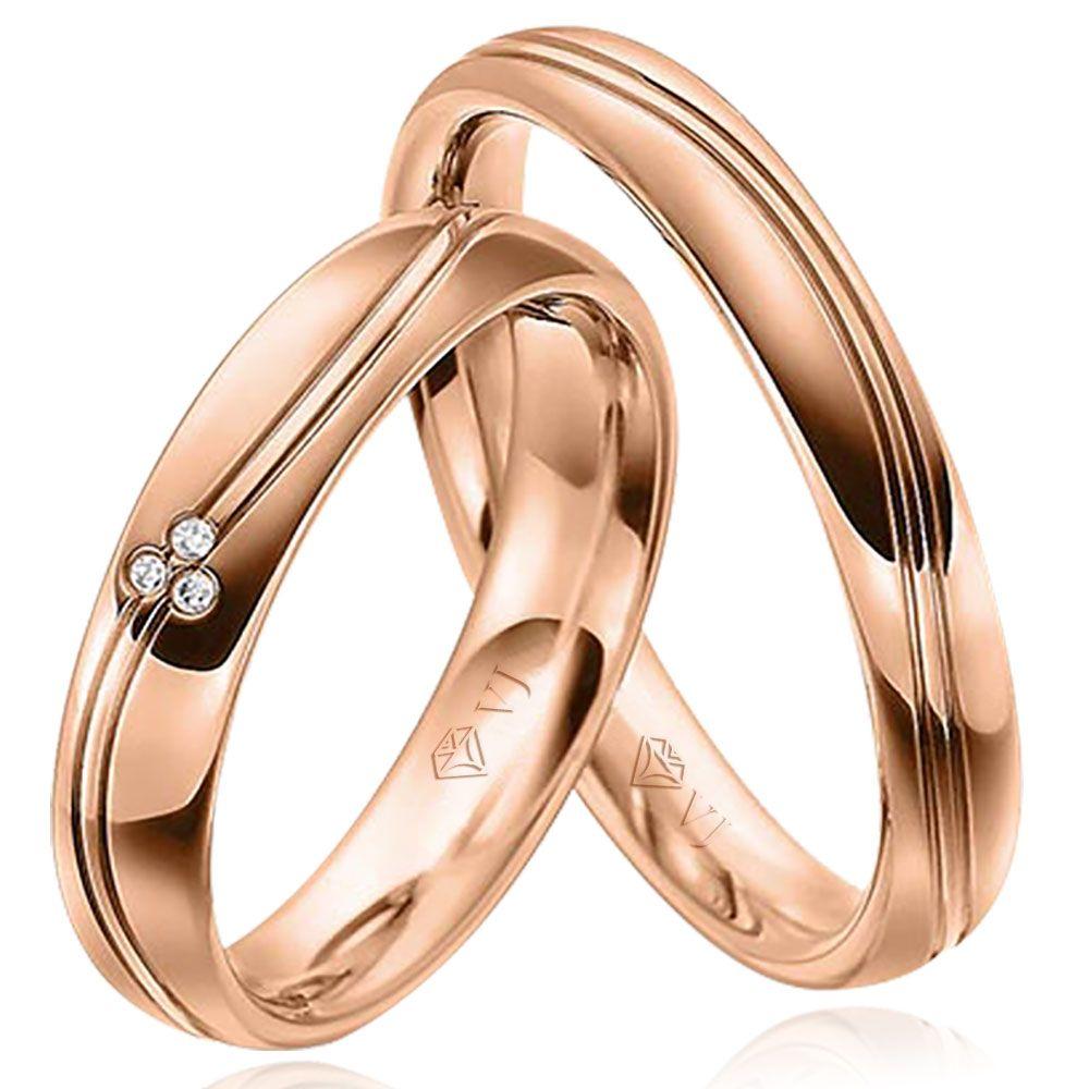 imagem do produto Alianças Rosê Noivado, Casamento Cód. 436