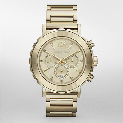 imagem do produto [preço de custo] relógio michael kors dourado mostrador madre pérola mk5789