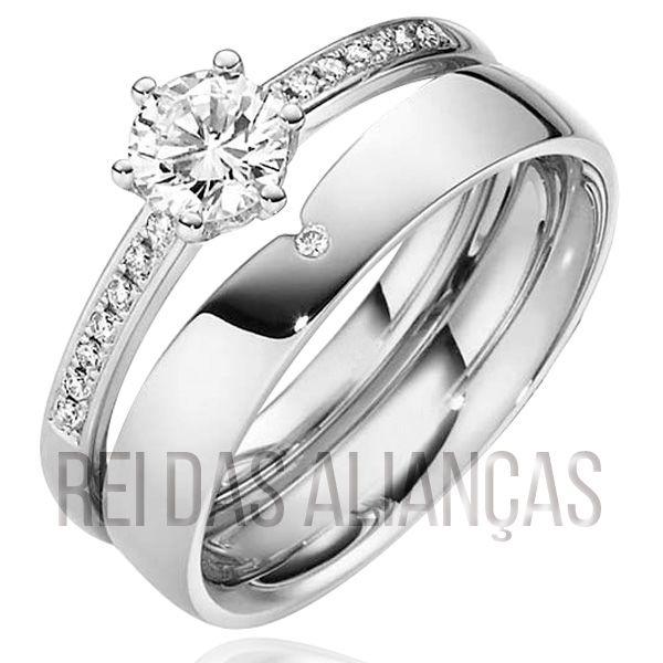 imagem do produto Anel de Noivado Casamento Compromisso Cód. 827