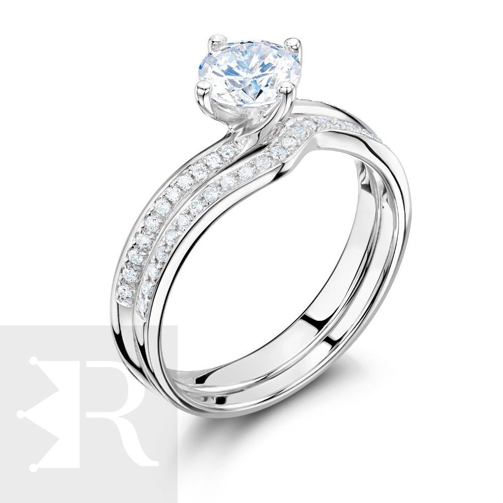 imagem do produto Anel de Noivado, Compromisso 89 Pontos de Diamante Hibrido Cód. 839