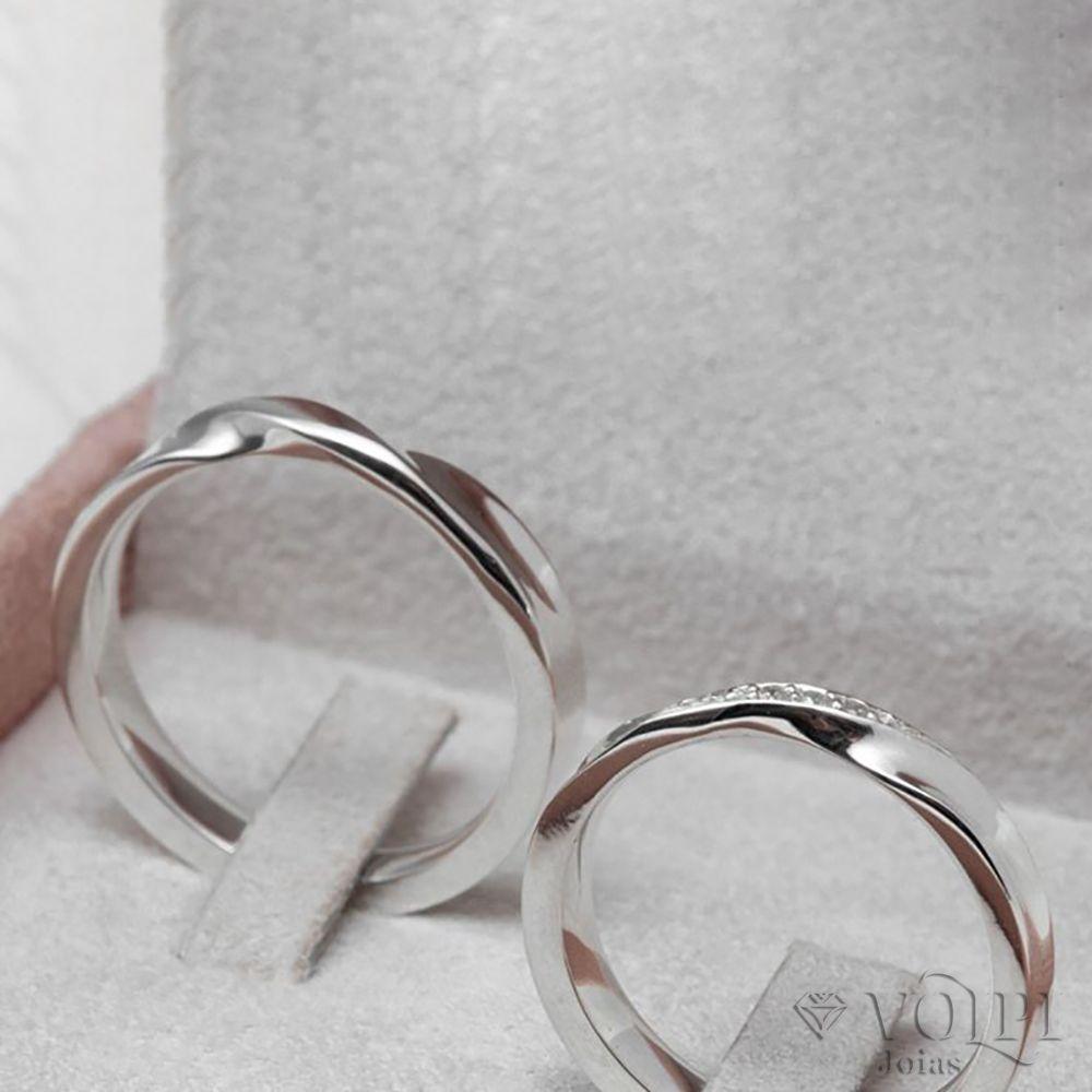 imagem do produto Aliança de Compromisso Fina Torcida Cód: 8501
