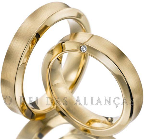 imagem do produto Alianças de Casamento ou Noivado Côncavas Exclusivas Cód. 158