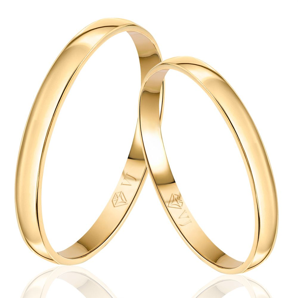 imagem do produto Alianças de Ouro Tradicional Anatômica 2mm de Largura