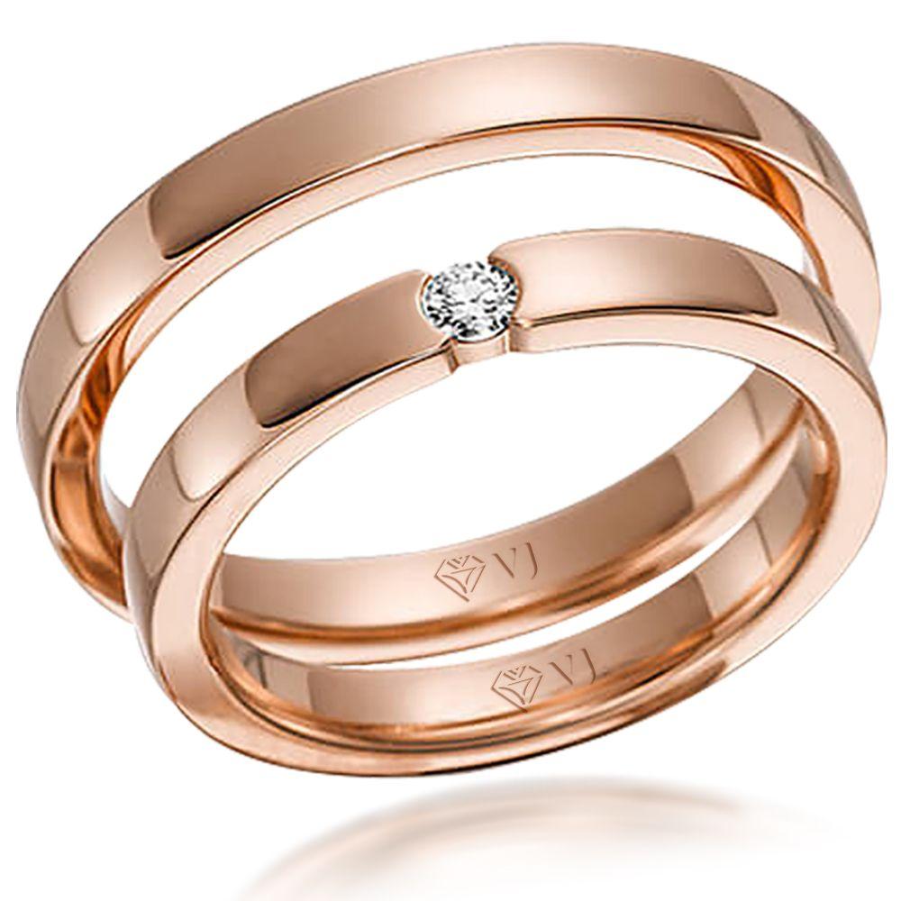 imagem do produto Alianças de Ouro Rosê Sonho de Princesa Cód. 576