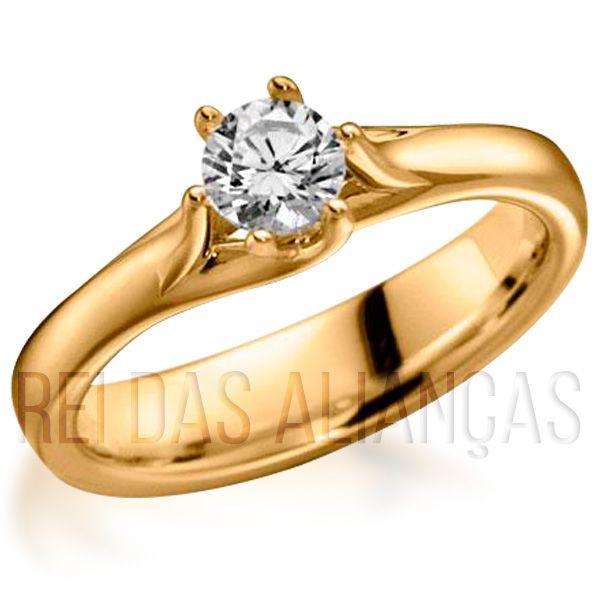 imagem do produto Anel de Noivado Casamento Diamante de 70 Pontos Cód. 609