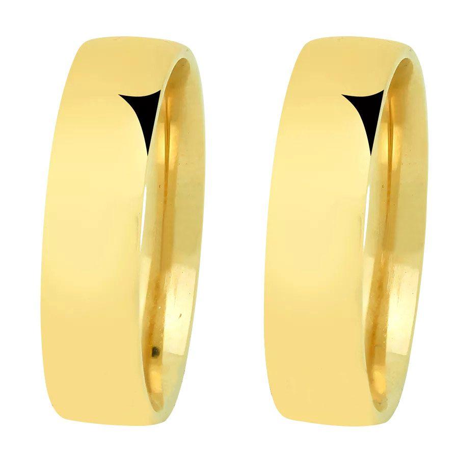 imagem do produto Alianças Noivado e Casamento Anatômicas em Ouro 10k Cód. 694