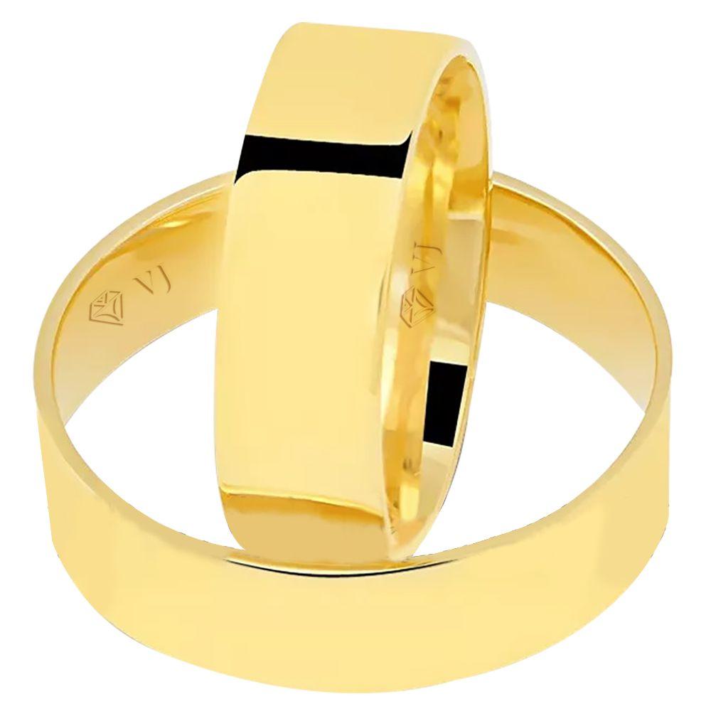 imagem do produto Alianças de Casamento, Noivado Chapa Reta 6mm Cód. 878