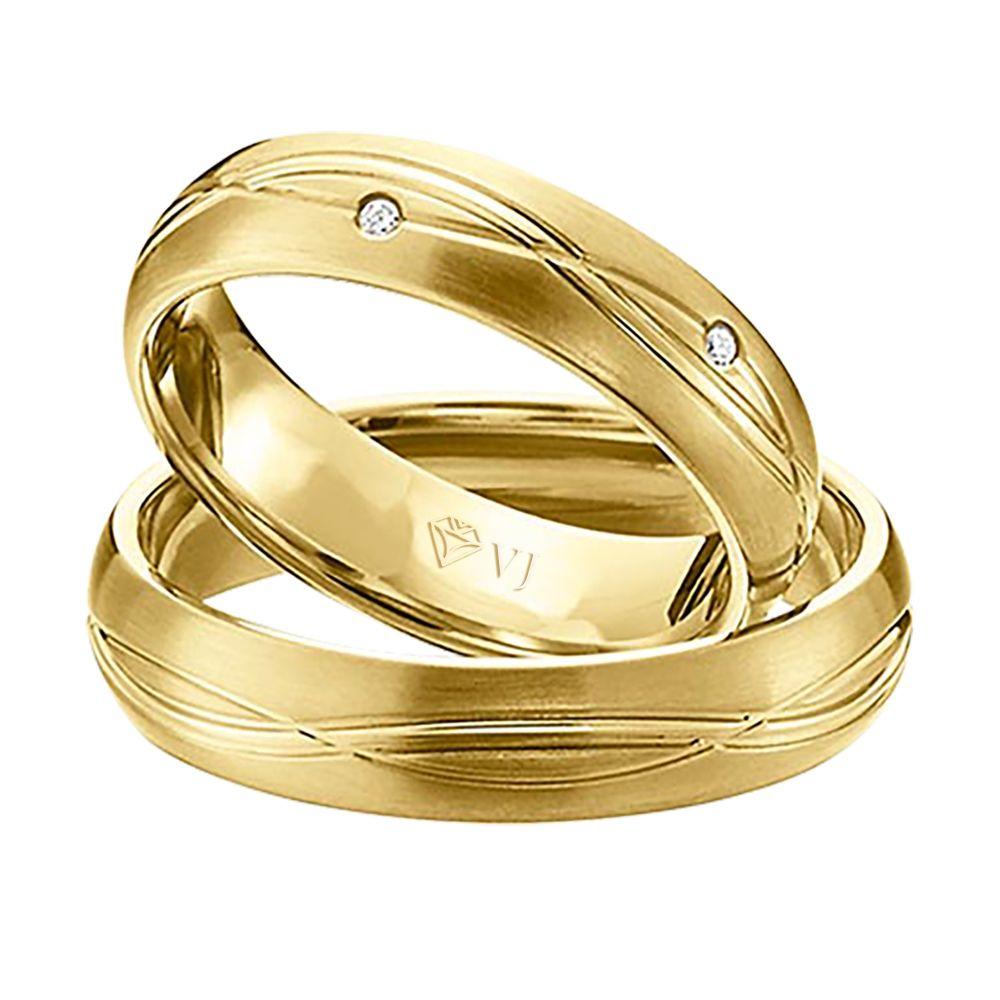 imagem do produto Par de Alianças de Ouro com Símbolo do Infinito Cód. 281