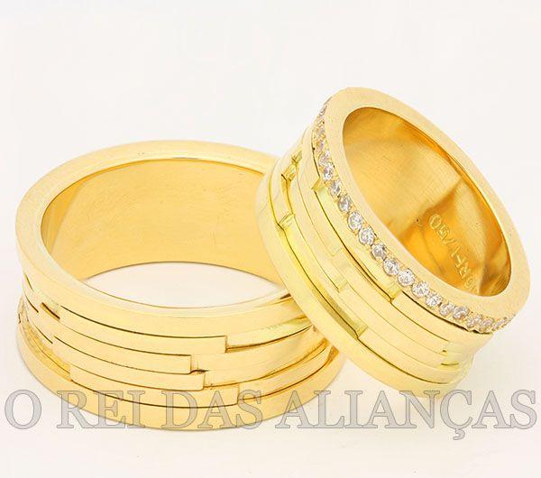 imagem do produto Alianças Top Casamento, Noivado, Diamantes na Feminina Cód. 420