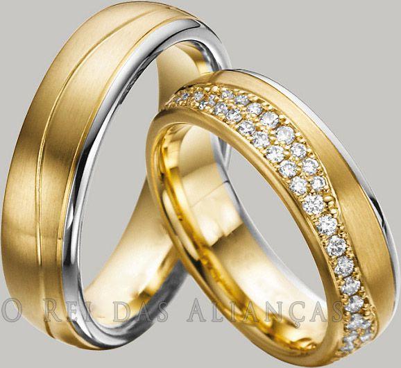 imagem do produto Alianças Top Estilo Duas Cores Luxo Total Cód. 454