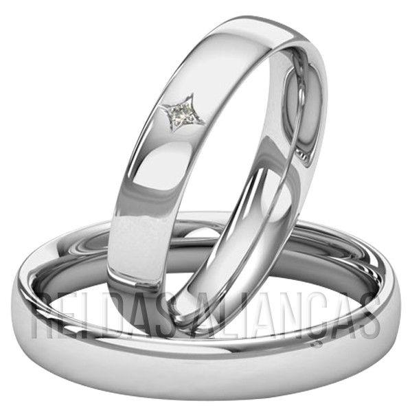 imagem do produto Alianças de Ouro com Diamante na Feminina Cód.  884