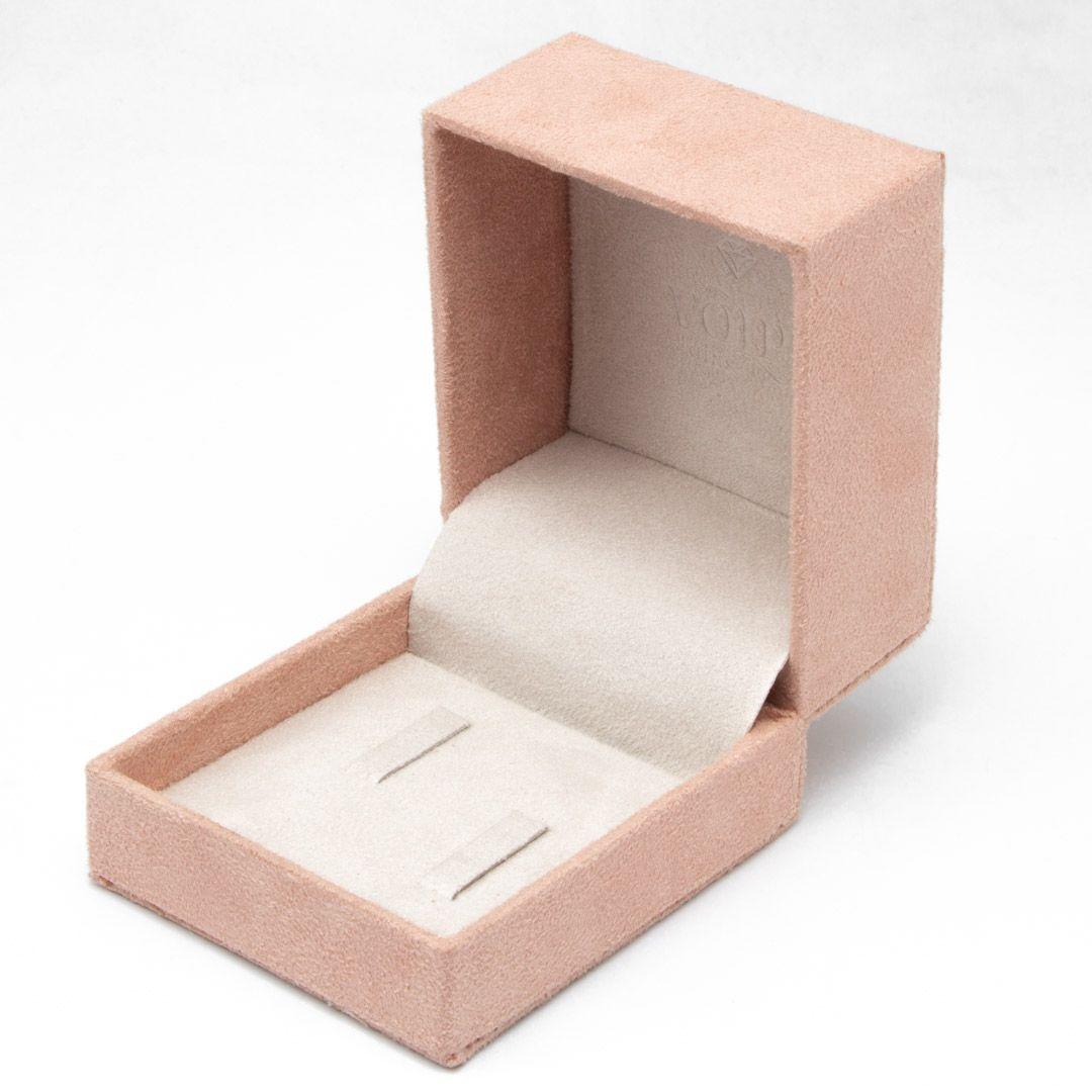 imagem do produto Estojo de Alianças Rosa com Interior Off White