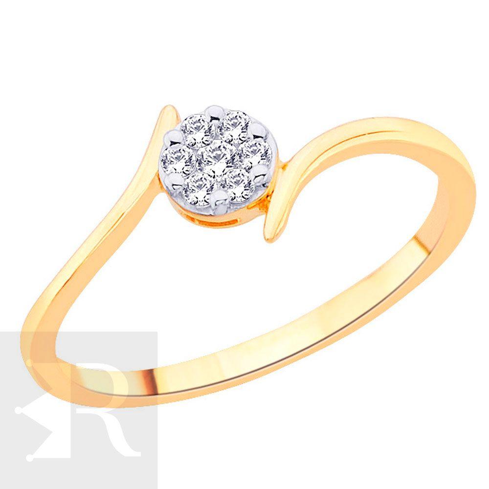 imagem do produto Anel Solitário Delicado com 7 Diamantes Cód. 811