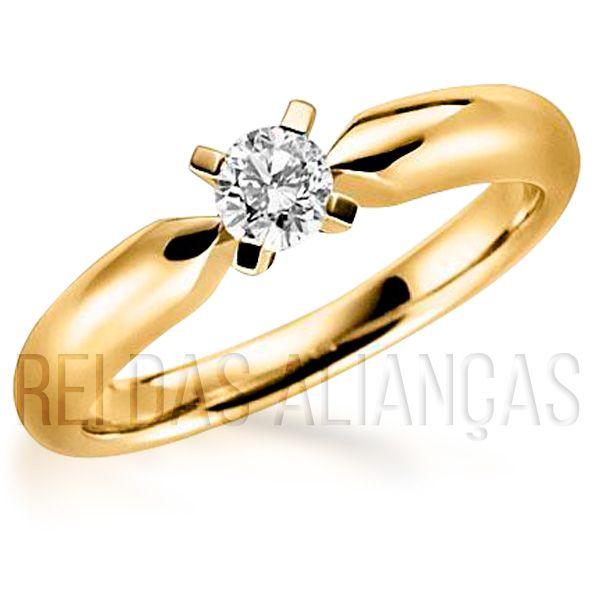 imagem do produto Anel de Noivado Casamento Diamante de 20 Pontos Cód. 605