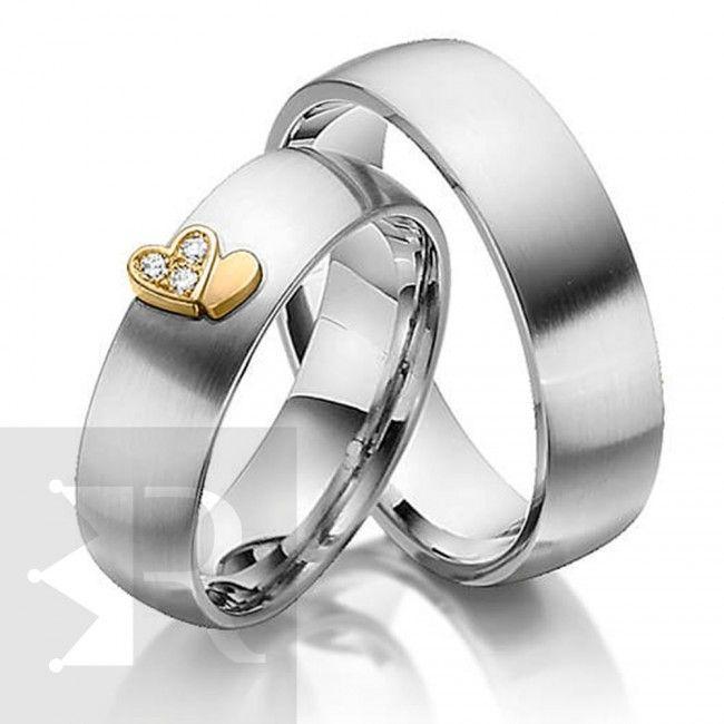 imagem do produto Alianças de Prata Namoro ou Noivado, Corações Apaixonados Cód. 6211