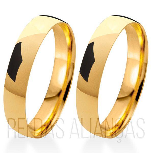 imagem do produto Aliança de Noivado e Casamento com 4,5mm de Largura