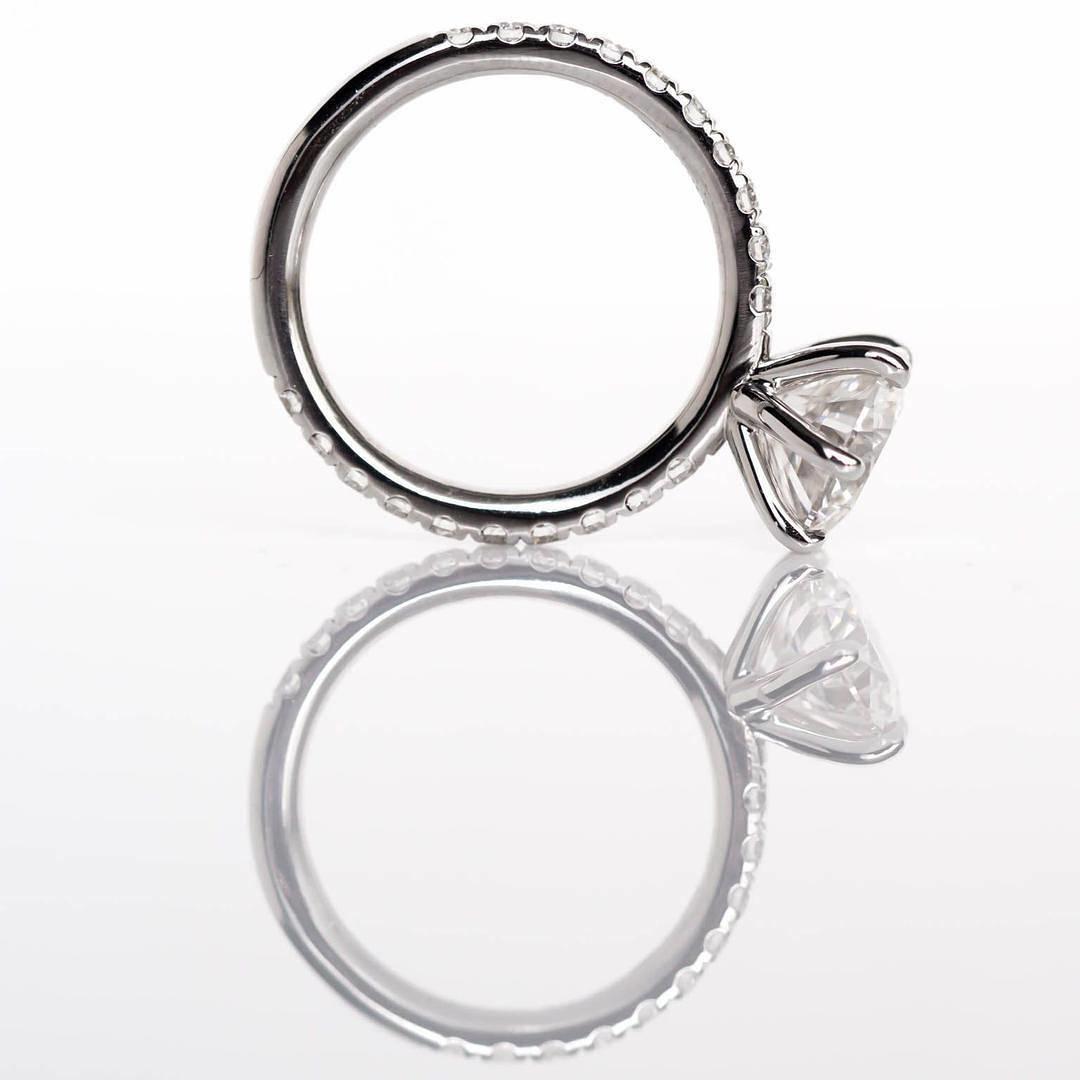 imagem do produto Anel de Noivado de Prata com Pedra de 1ct