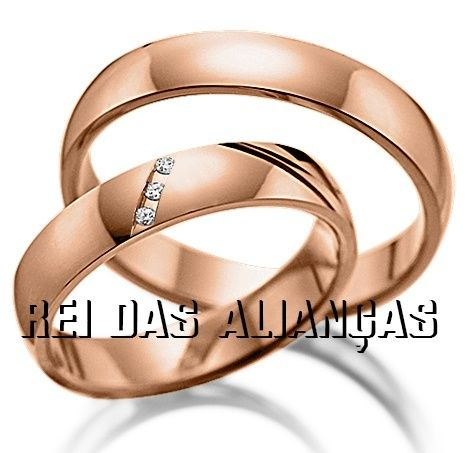 imagem do produto Alianças Rosê, Noivado ou Casamento Doce Encanto Cód. 306