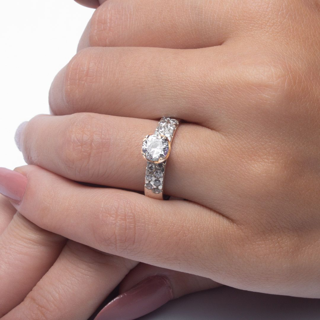 imagem do produto Alianças de Prata com Ouro Personalizada para Compromisso, Noivado ou Casamento Cód: 6236