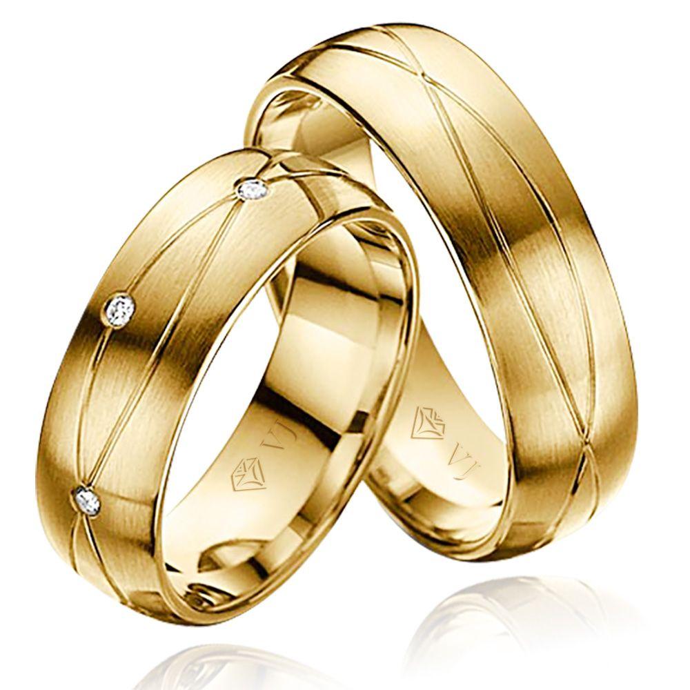 imagem do produto Alianças de Ouro com Símbolo do Infinito Cód. 880