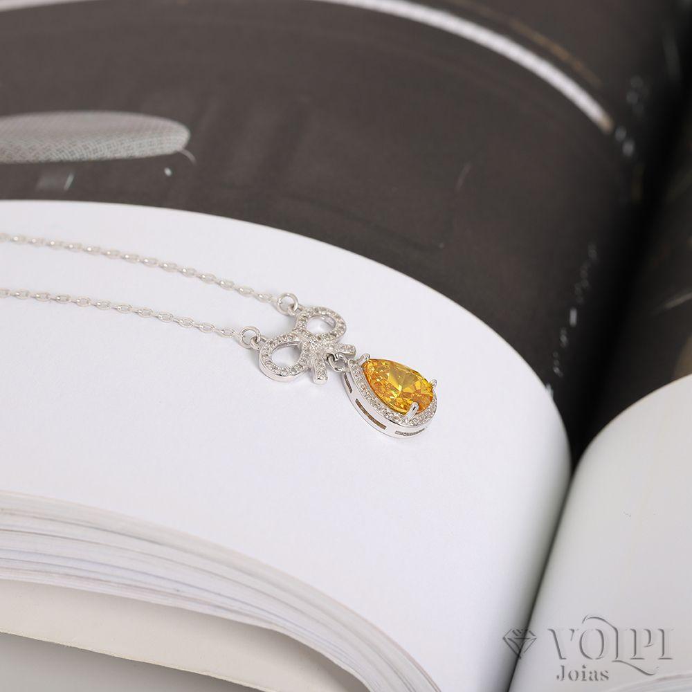 imagem do produto Colar em Prata 925 com gota de citrino