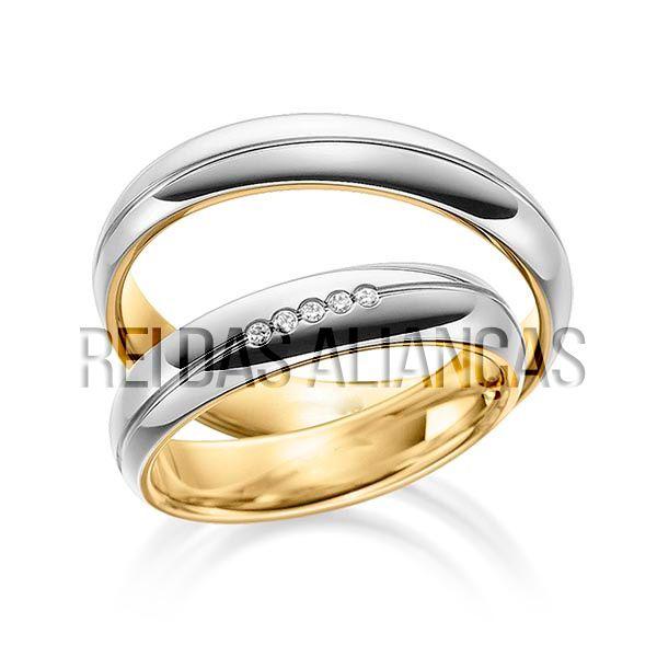 imagem do produto Alianças de Casamento ou Noivado Luxo Cód. 912