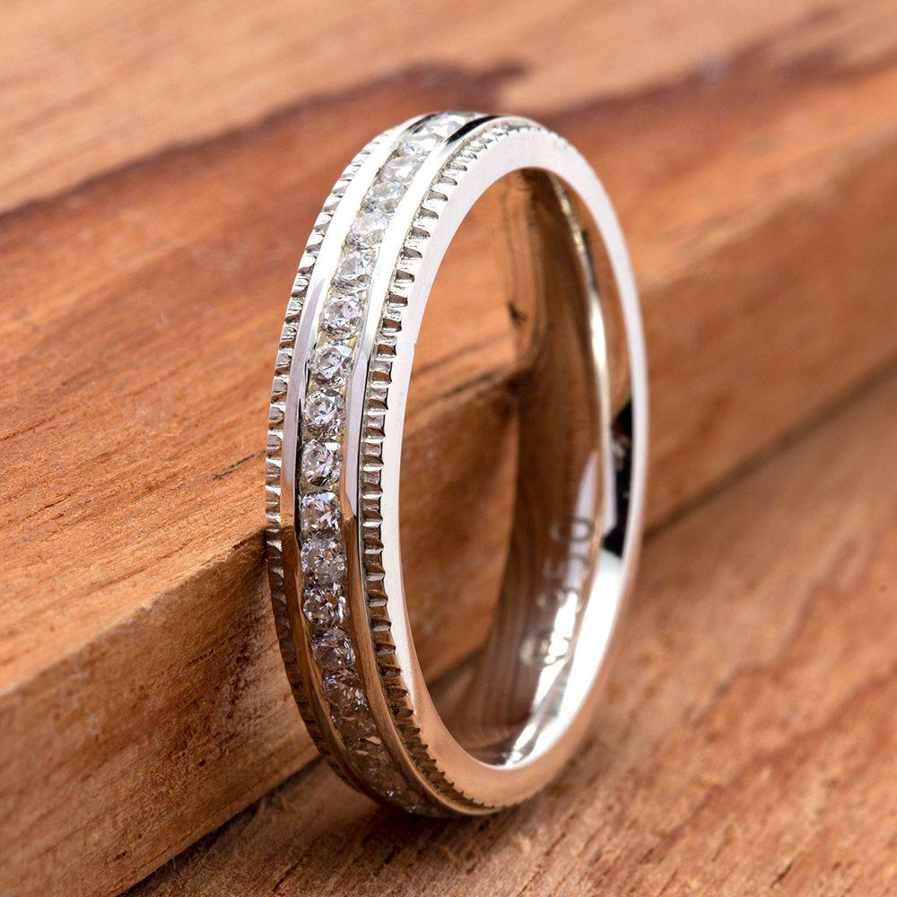 imagem do produto Alianças Finas de Prata com Pedras cod. 8694