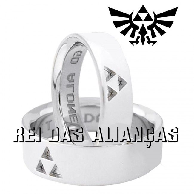 imagem do produto Alianças Zelda Triforce Cód. 8619