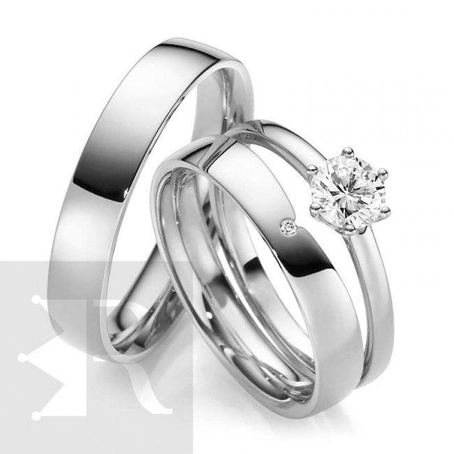 imagem do produto Alianças de Prata Amore Mio Cód. 8681
