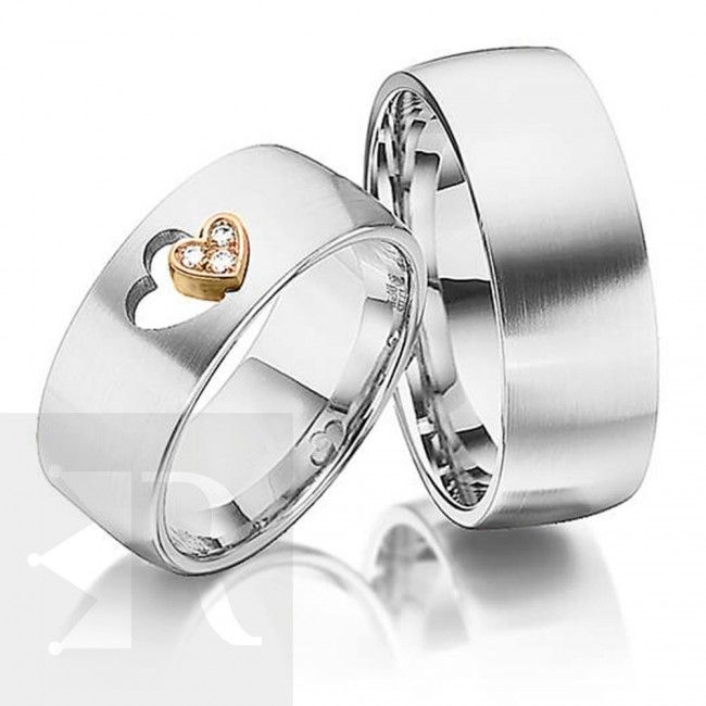 imagem do produto Alianças Prata Compromisso ou Noivado, Eterno Amor Cód. 6200