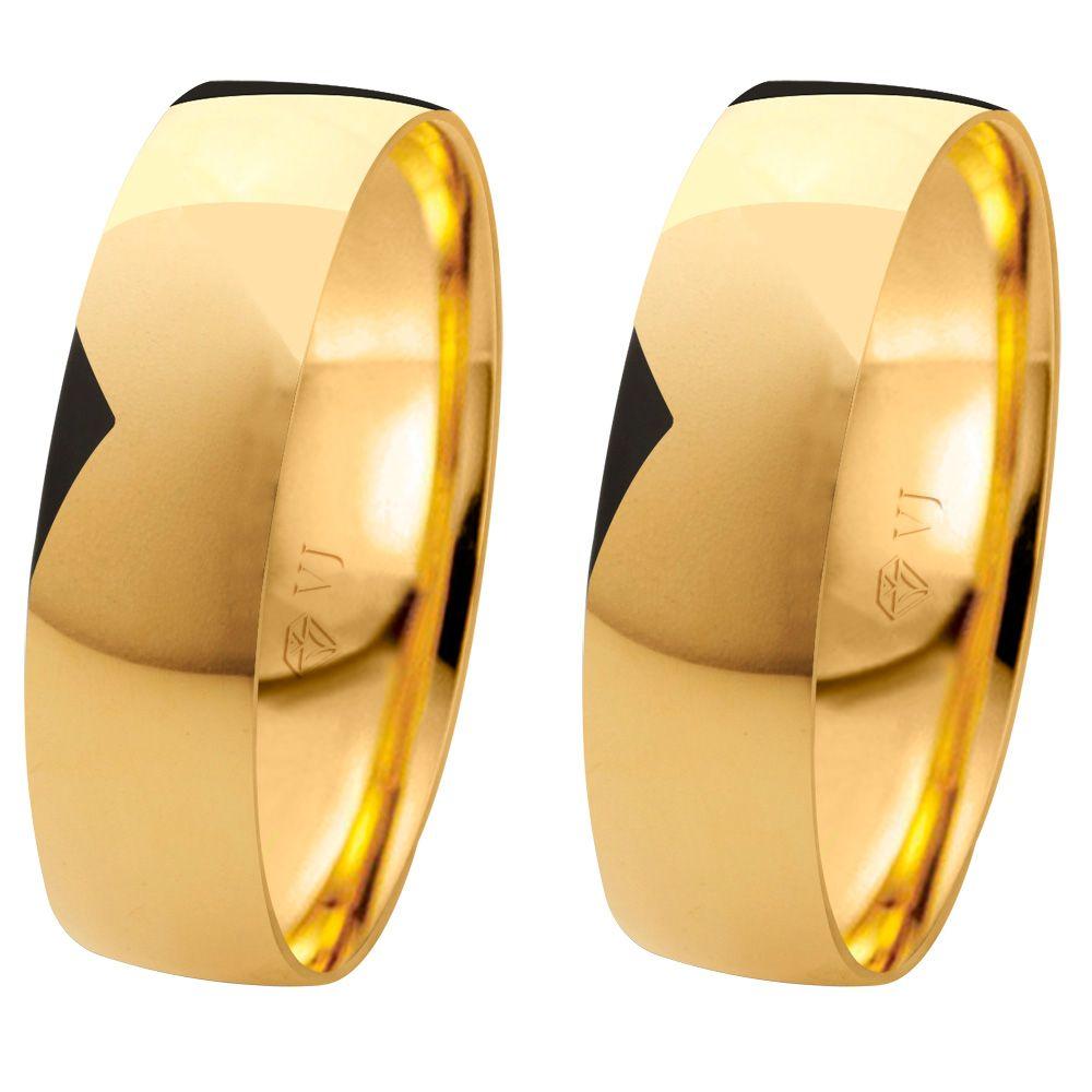 imagem do produto Alianças Tradicionais de Ouro com 5,5mm de Largura