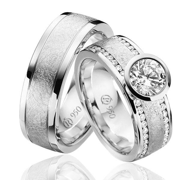 imagem do produto Modelo de Alianças de Prata com Pedras na Feminina Cód 8675