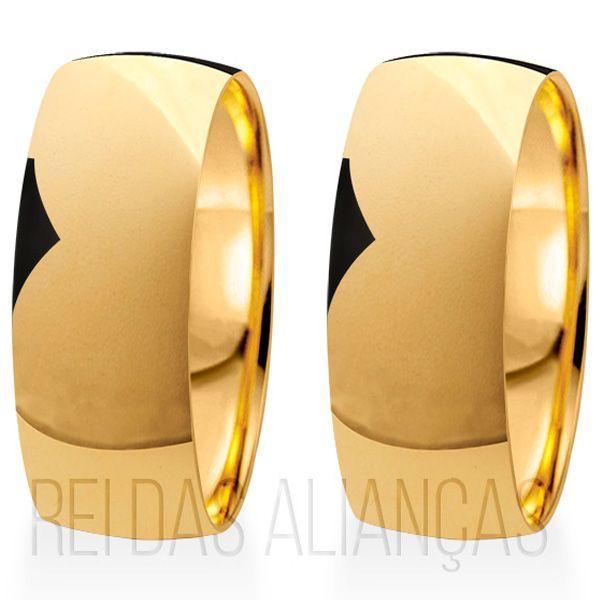 imagem do produto Alianças de Ouro 18k Grossas com 8mm de Largura