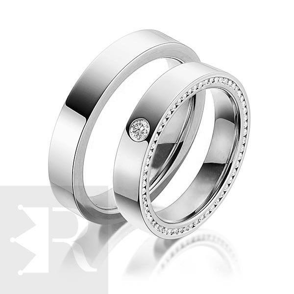imagem do produto Par de Alianças de Prata Luxo Cód. 8682