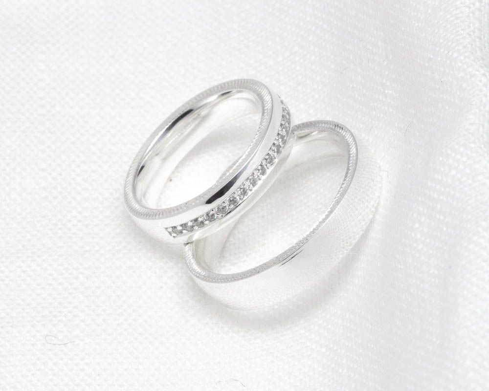 imagem do produto Alianças de Prata Super Luxo Cód. 8680